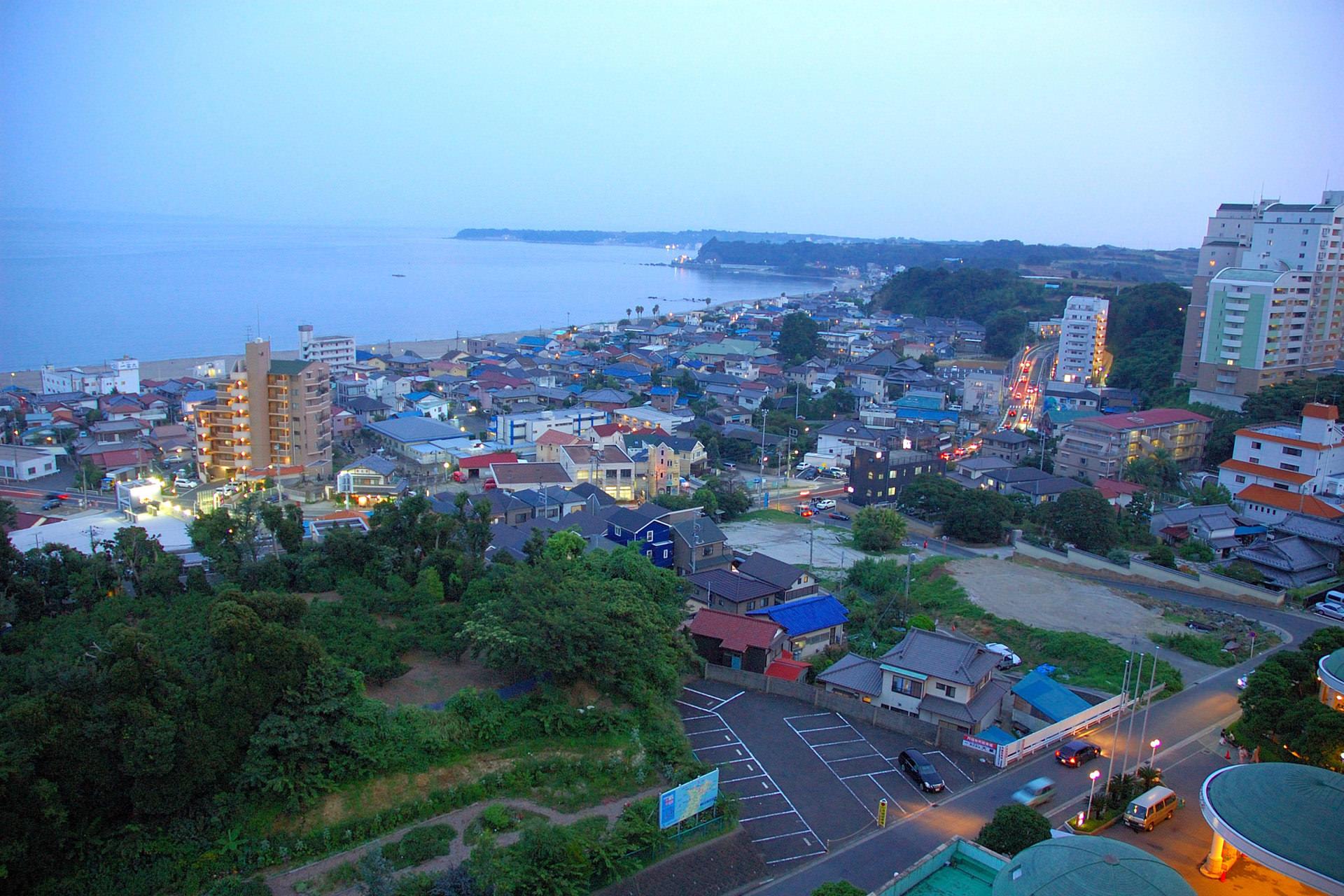 客室から臨む三浦海岸の景色一例